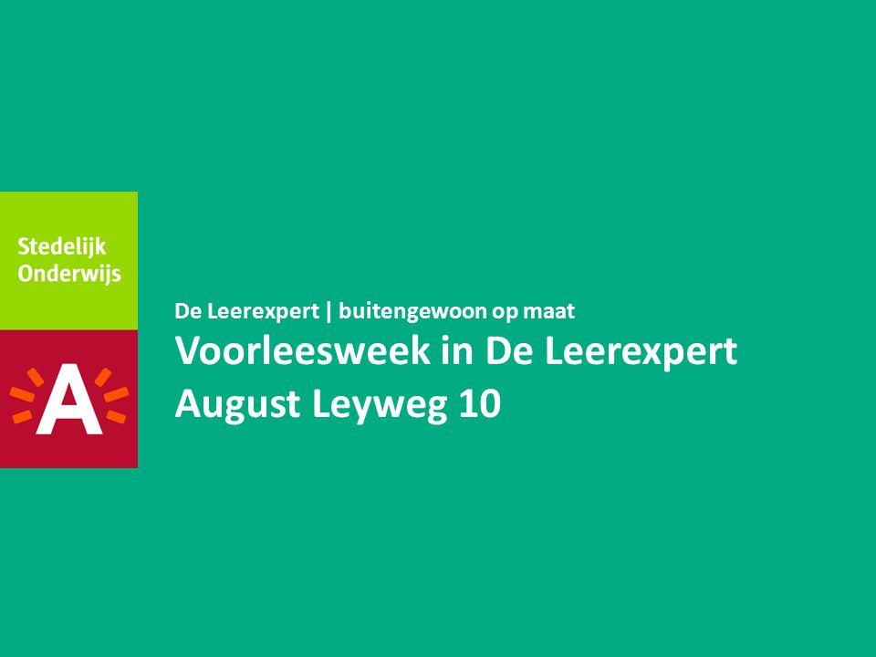 Voorleesweek in De Leerexpert August Leyweg 10 De Leerexpert | buitengewoon op maat