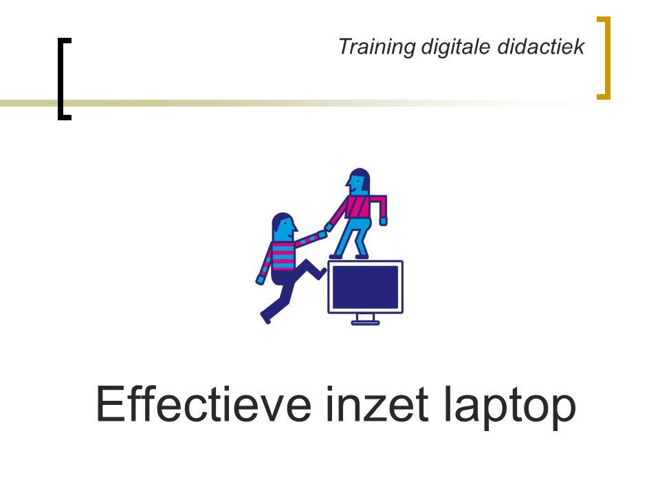 Training digitale didactiek Effectieve inzet laptop