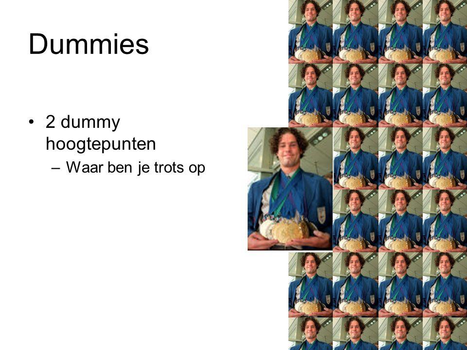 Dummies 2 dummy hoogtepunten –Waar ben je trots op