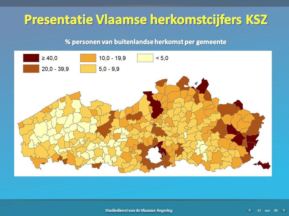 20 Studiedienst van de Vlaamse Regering van12