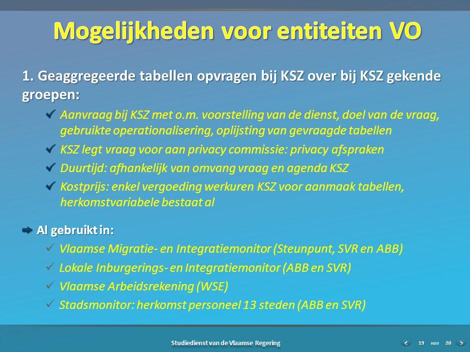 20 Studiedienst van de Vlaamse Regering van19 1.