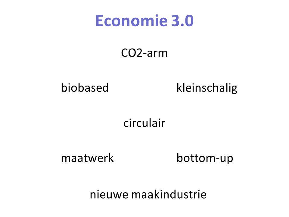 Economie 3.0 CO2-arm biobasedkleinschalig circulair maatwerkbottom-up nieuwe maakindustrie