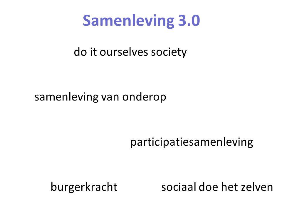 Samenleving 3.0 do it ourselves society samenleving van onderop participatiesamenleving burgerkracht sociaal doe het zelven