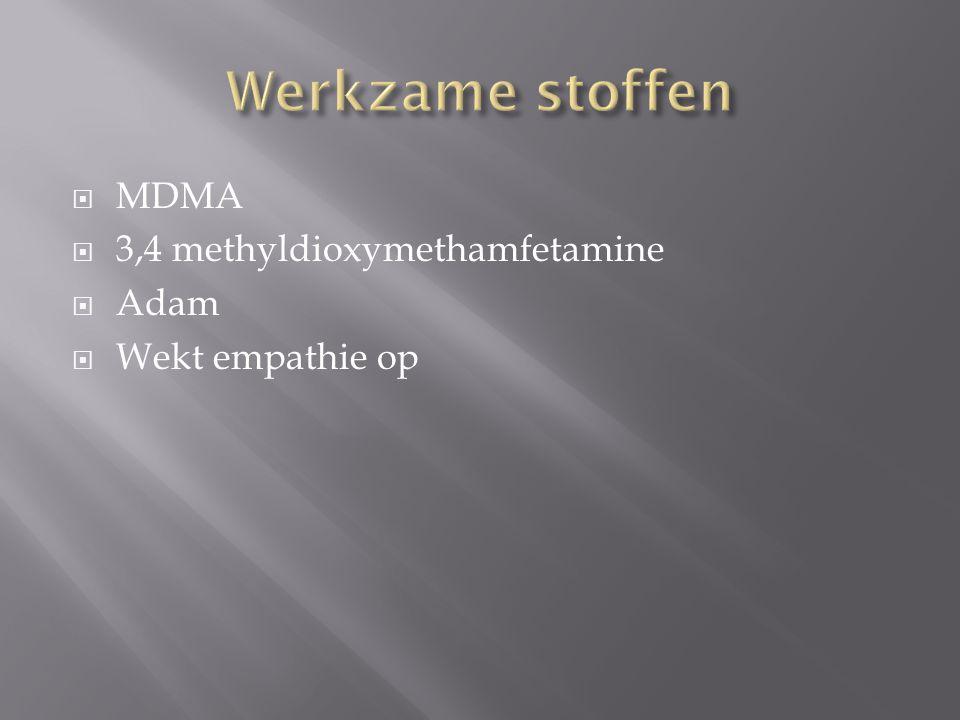  MDMA  3,4 methyldioxymethamfetamine  Adam  Wekt empathie op