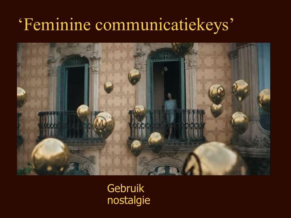 Gebruik nostalgie 'Feminine communicatiekeys'