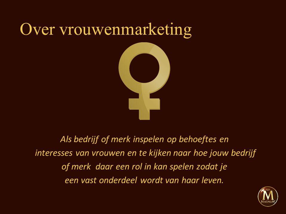 Als bedrijf of merk inspelen op behoeftes en interesses van vrouwen en te kijken naar hoe jouw bedrijf of merk daar een rol in kan spelen zodat je een vast onderdeel wordt van haar leven.