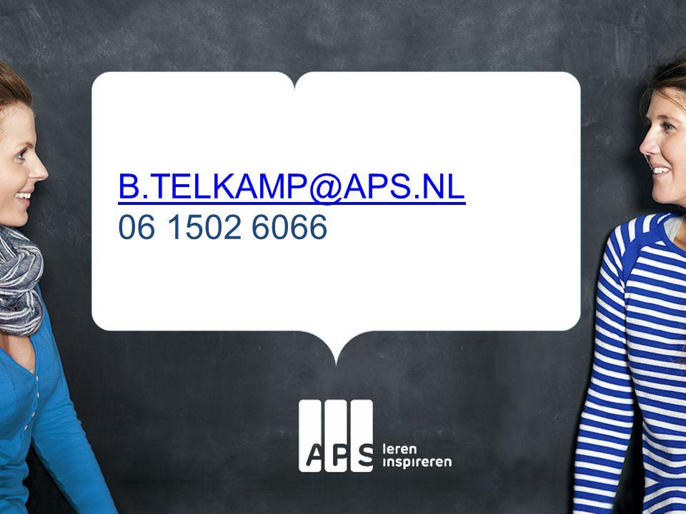 B.TELKAMP@APS.NL B.TELKAMP@APS.NL 06 1502 6066