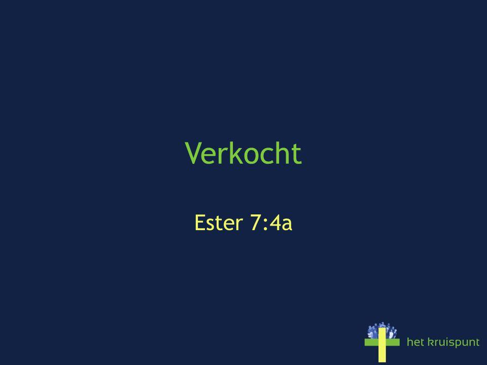 Verkocht Ester 7:4a