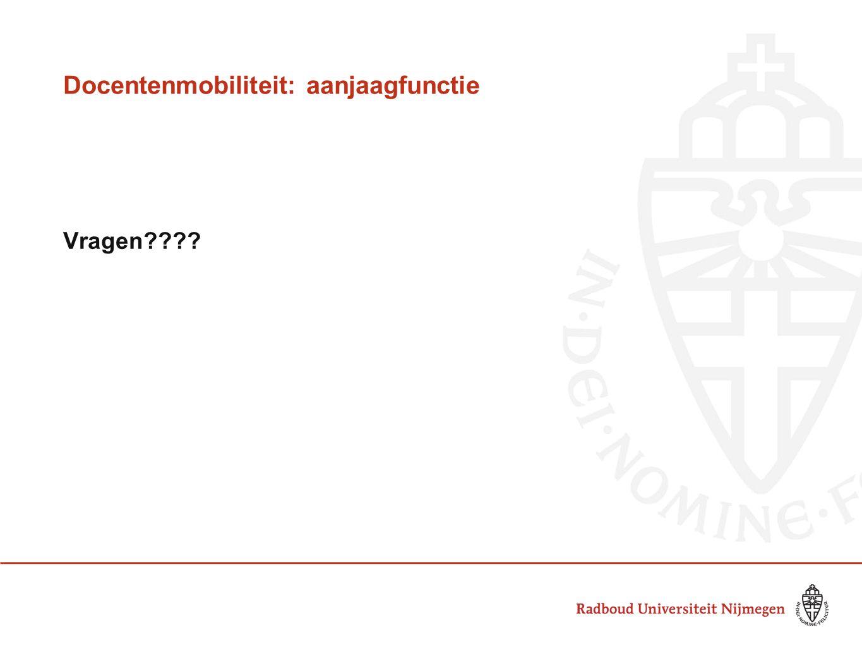 Docentenmobiliteit: aanjaagfunctie Vragen????