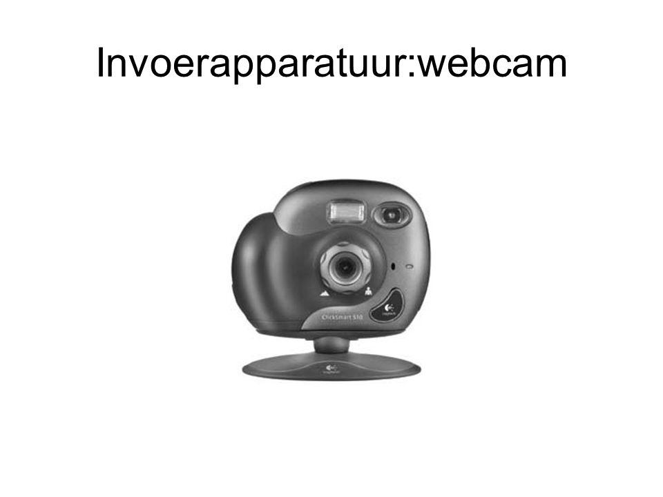 Invoerapparatuur:webcam