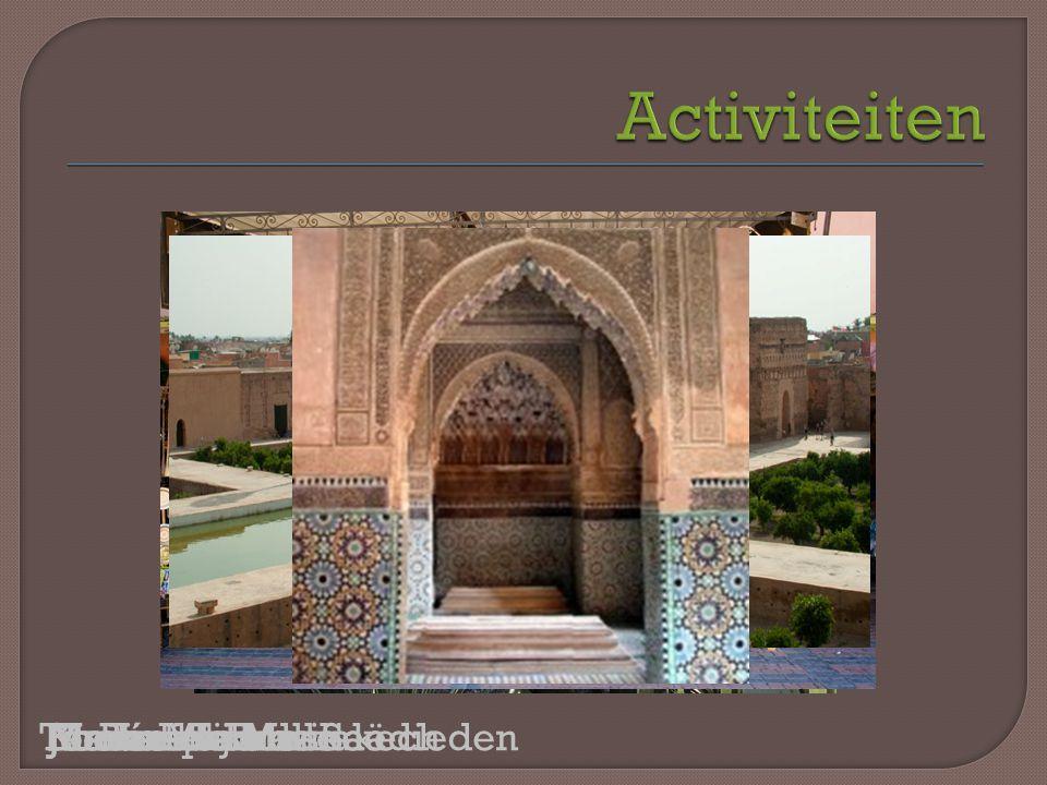 Musée de MarrakechMedinaJardin MajorelleMaison TiskiwinJemaa-el-FnaKoutoubia MoskeeSoeksEl-BadipaleisTombes van de Saädieden