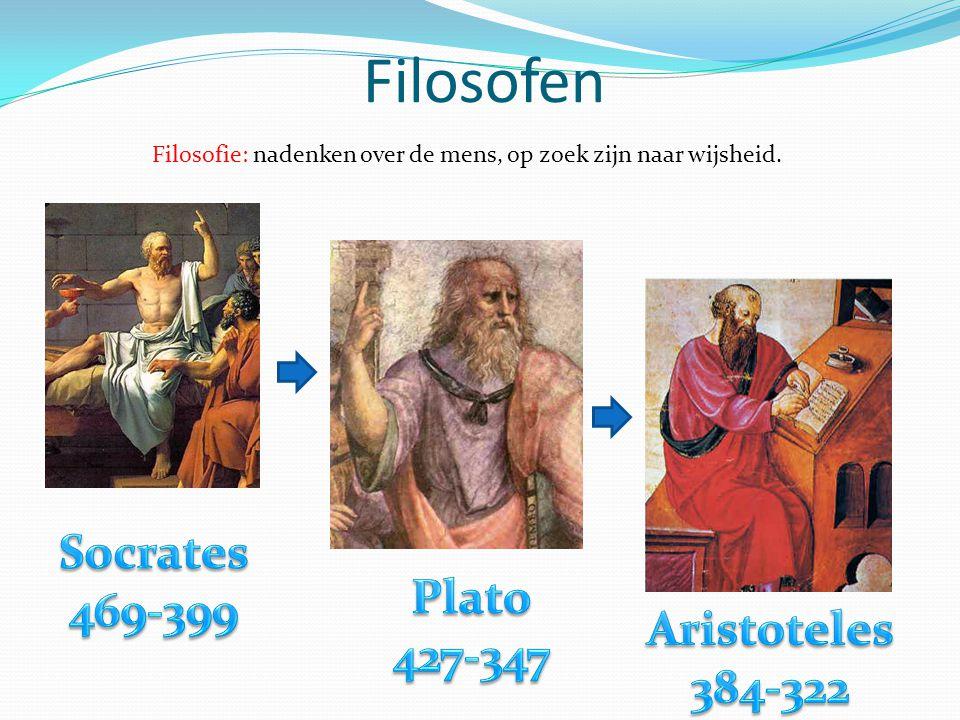 Filosofen Filosofie: nadenken over de mens, op zoek zijn naar wijsheid.