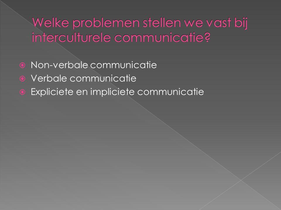  Non-verbale communicatie  Verbale communicatie  Expliciete en impliciete communicatie