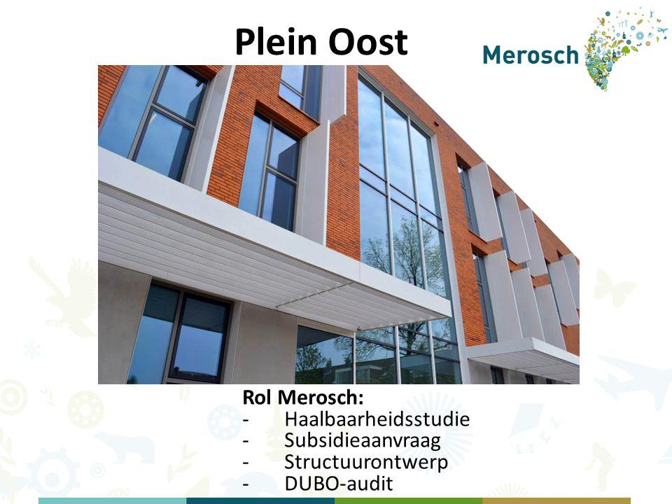 Plein Oost Rol Merosch: -Haalbaarheidsstudie -Subsidieaanvraag -Structuurontwerp -DUBO-audit