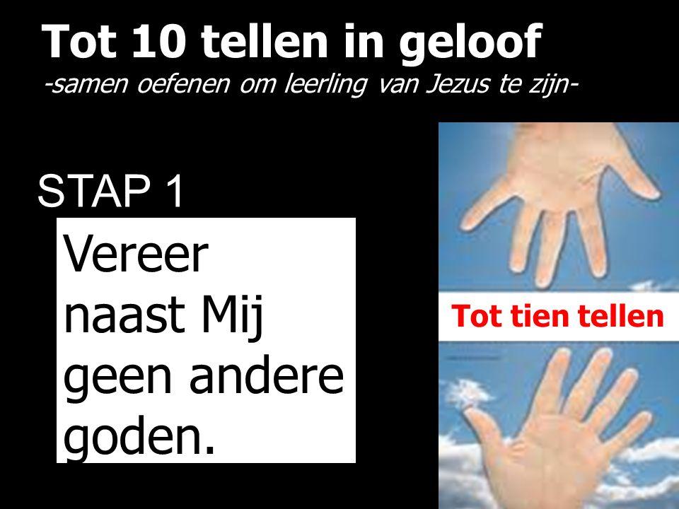 Tot 10 tellen in geloof -samen oefenen om leerling van Jezus te zijn- STAP 1 Vereer naast Mij geen andere goden. Tot tien tellen