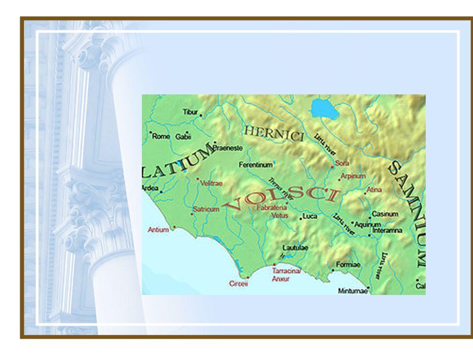 De Romeinen belegerden een keer een stad van de Volsci, de Corioli.