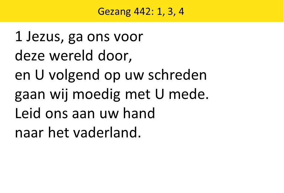 Gezang 460: 3, 4, 5 3 Ja, Hij spaart ons en Hij redt ons, Hij kent onze broze kracht.