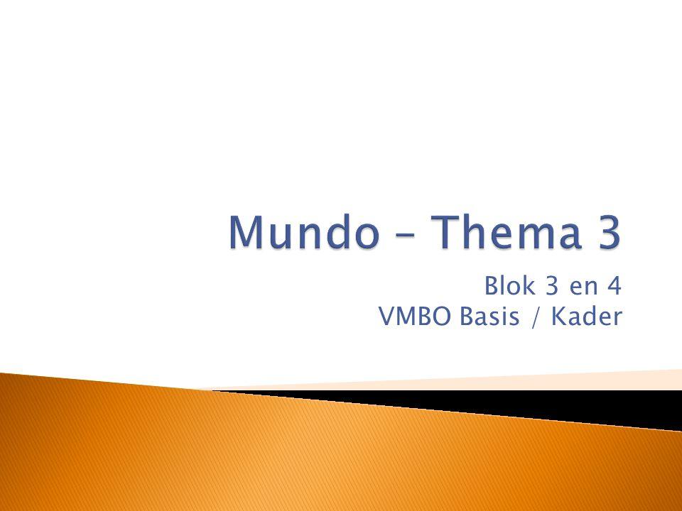 Blok 3 en 4 VMBO Basis / Kader