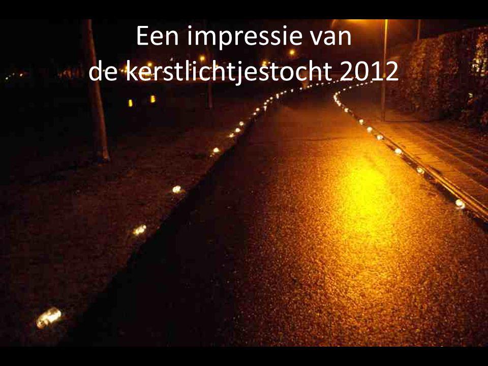 Een impressie van de kerstlichtjestocht 2012