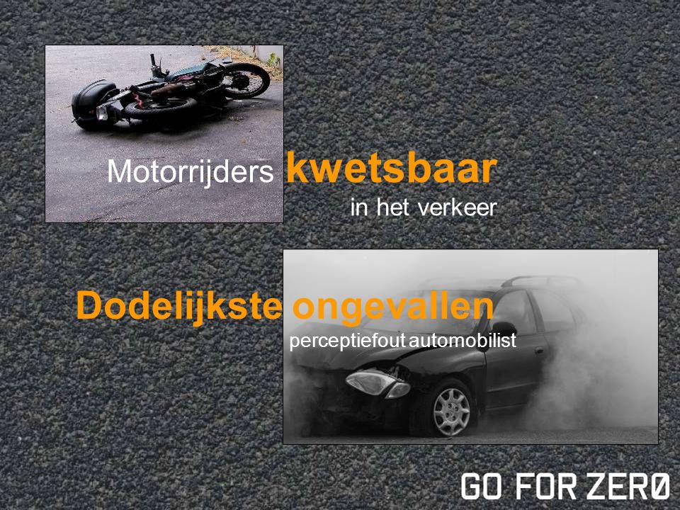 Motorrijders kwetsbaar in het verkeer Dodelijkste ongevallen perceptiefout automobilist