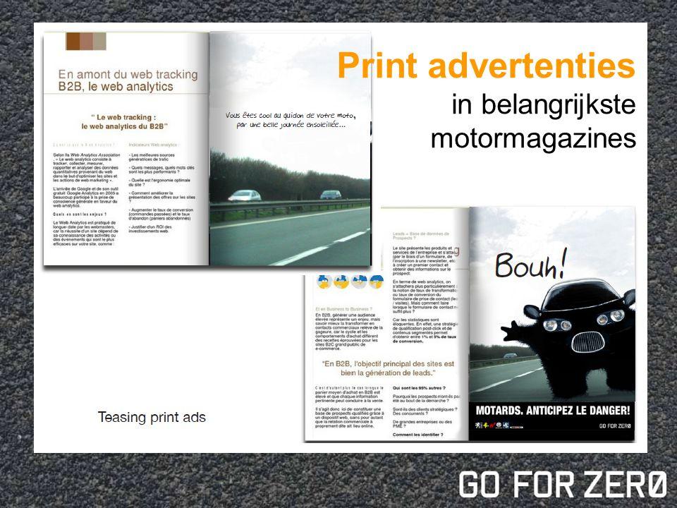 Print advertenties in belangrijkste motormagazines