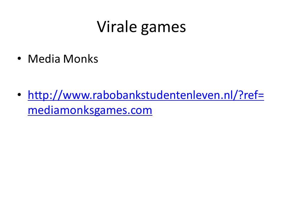 Virale games Media Monks http://www.rabobankstudentenleven.nl/?ref= mediamonksgames.com http://www.rabobankstudentenleven.nl/?ref= mediamonksgames.com