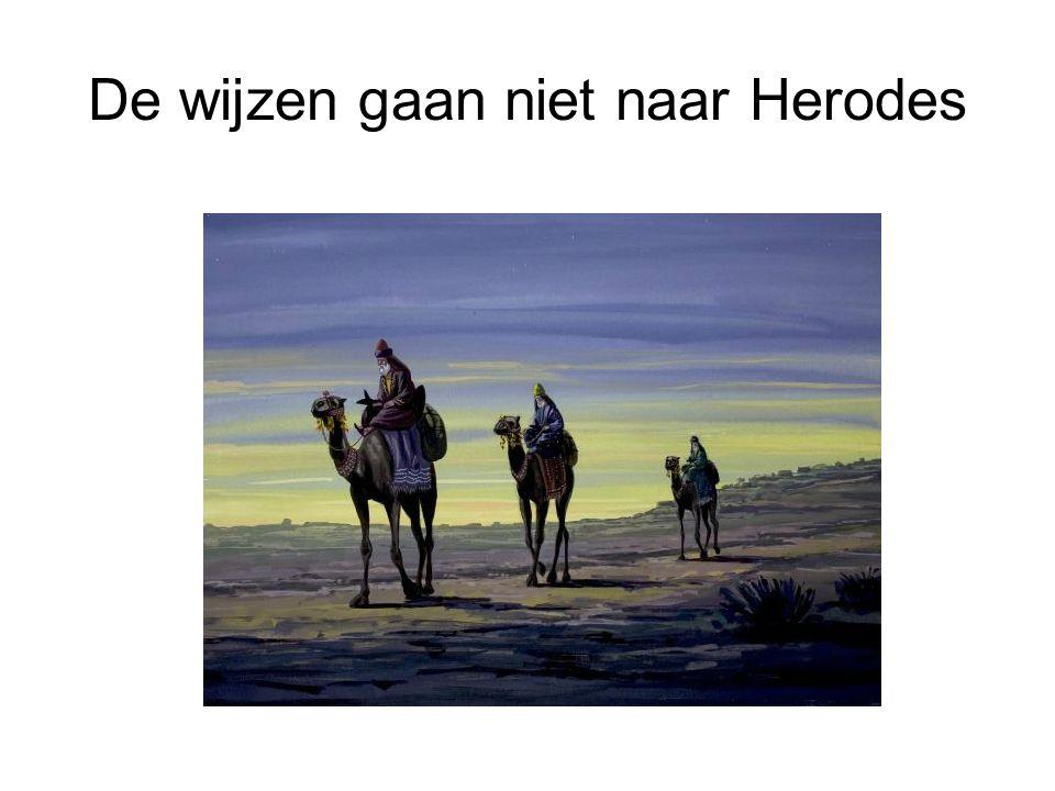 De wijzen gaan niet naar Herodes