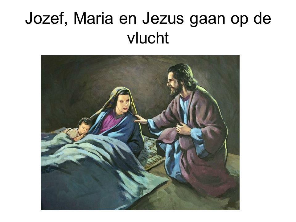Jozef, Maria en Jezus gaan op de vlucht