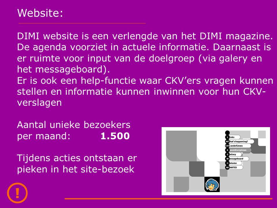 Database: Achter het DIMI magazine en de website hangt een database.