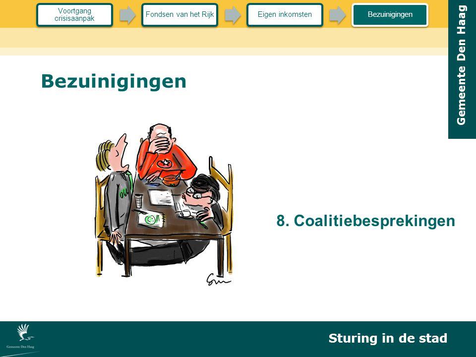 Gemeente Den Haag Bezuinigingen 8. Coalitiebesprekingen Sturing in de stad