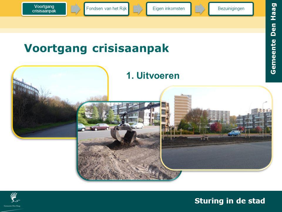 Gemeente Den Haag Voortgang crisisaanpak 1. Uitvoeren Sturing in de stad