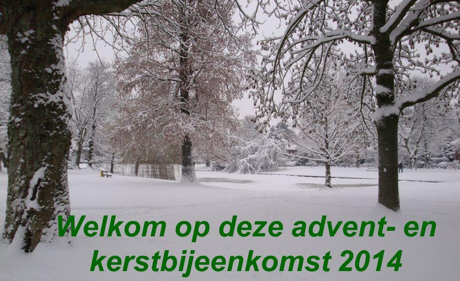 Advent- en kerstbijeenkomst op 19 december 2014 van de Vrouwenbijbelstudiekring EUNICE en van de 55-plus contactcommissie van de Christelijke Gereformeerde Kerk Utrecht-Centrum.