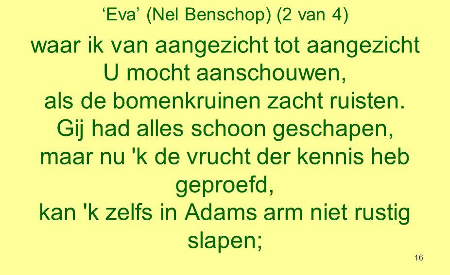 'Eva' (Nel Benschop) (3 van 4) dat maakt mij soms zo eindeloos bedroefd.