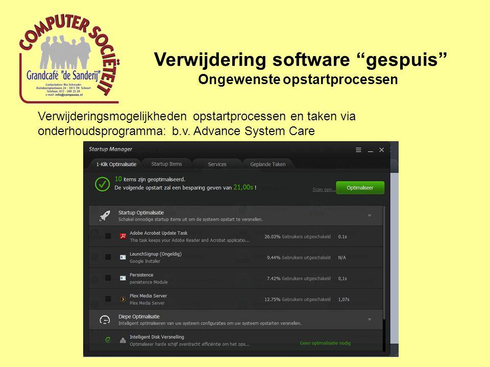 Verwijdering software gespuis Ongewenste zoekmachines Zoekmachines zijn plugins van internetbrowsers.