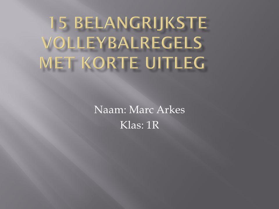 Naam: Marc Arkes Klas: 1R