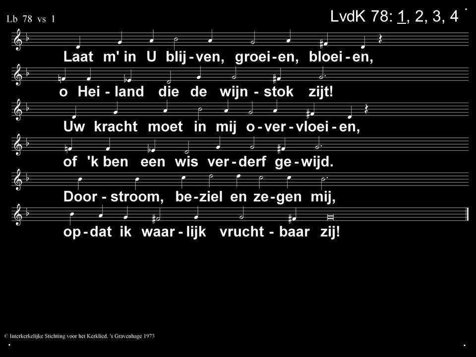 ... LvdK 78: 1, 2, 3, 4