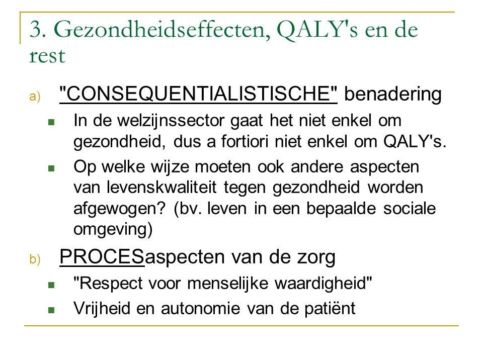 3. Gezondheidseffecten, QALY's en de rest a)