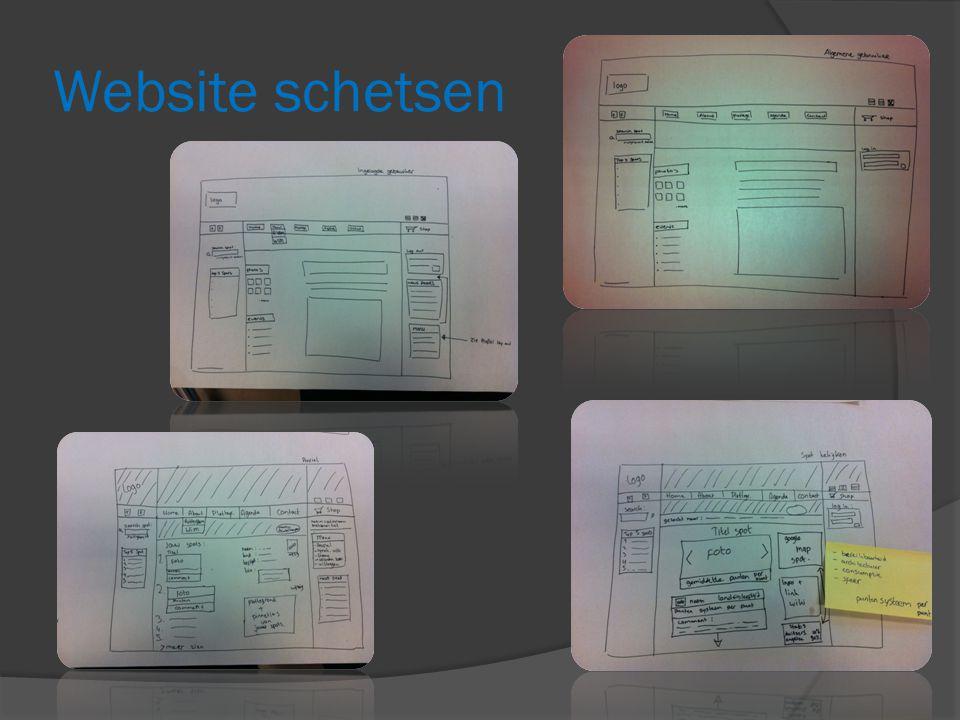 Website schetsen