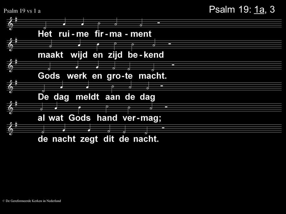 Psalm 19: 1a, 3