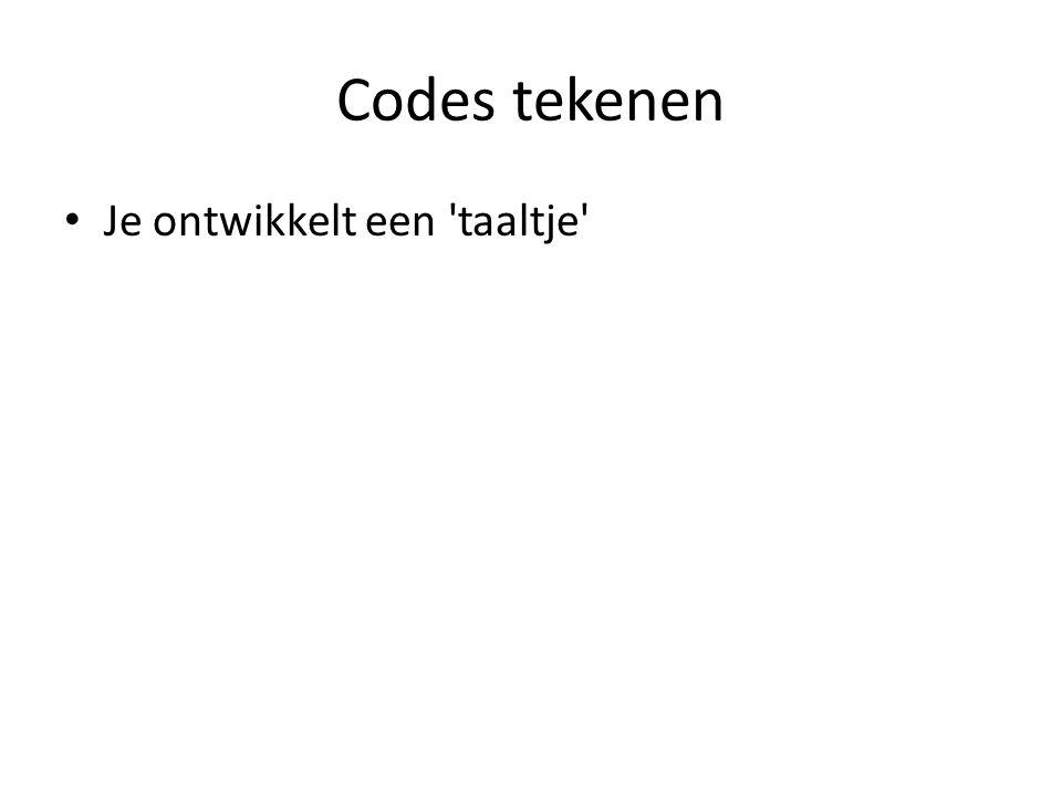 Codes tekenen Je ontwikkelt een 'taaltje'
