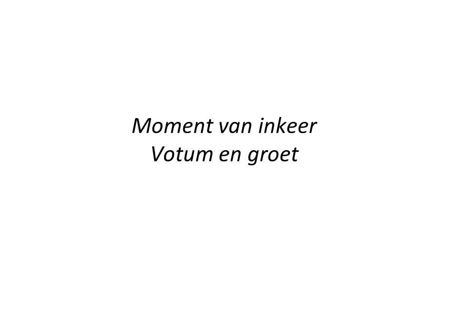 1 Gods goedheid houdt ons staande zolang de wereld staat.