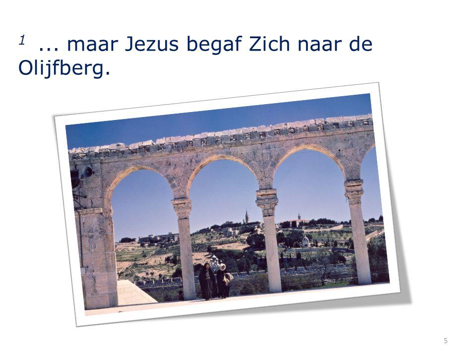 1... maar Jezus begaf Zich naar de Olijfberg. 5