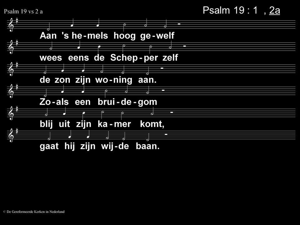 Psalm 19 : 1, 2a