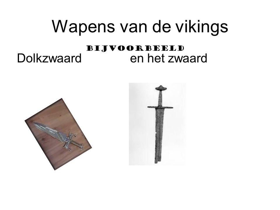 Wapens van de vikings Dolkzwaard en het zwaard Bijvoorbeeld