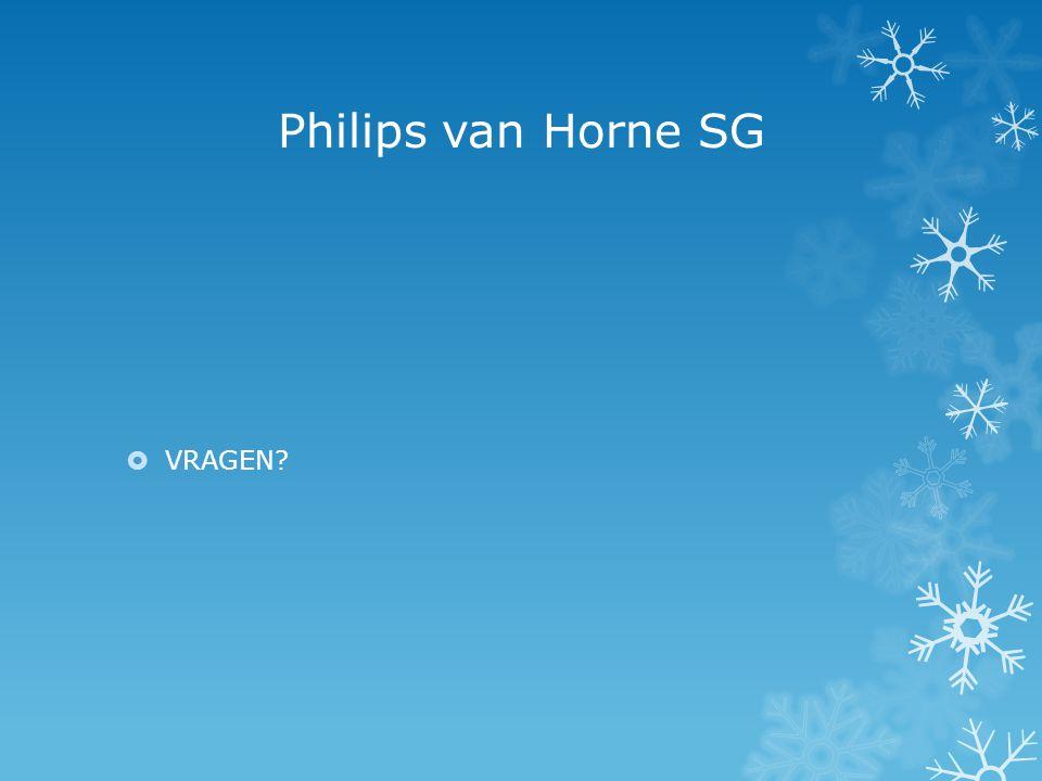 Philips van Horne SG  VRAGEN?