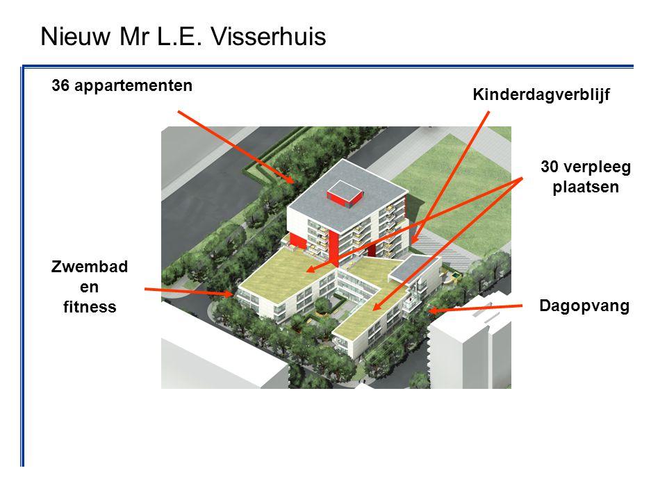 36 appartementen 30 verpleeg plaatsen Dagopvang Zwembad en fitness Kinderdagverblijf Nieuw Mr L.E. Visserhuis