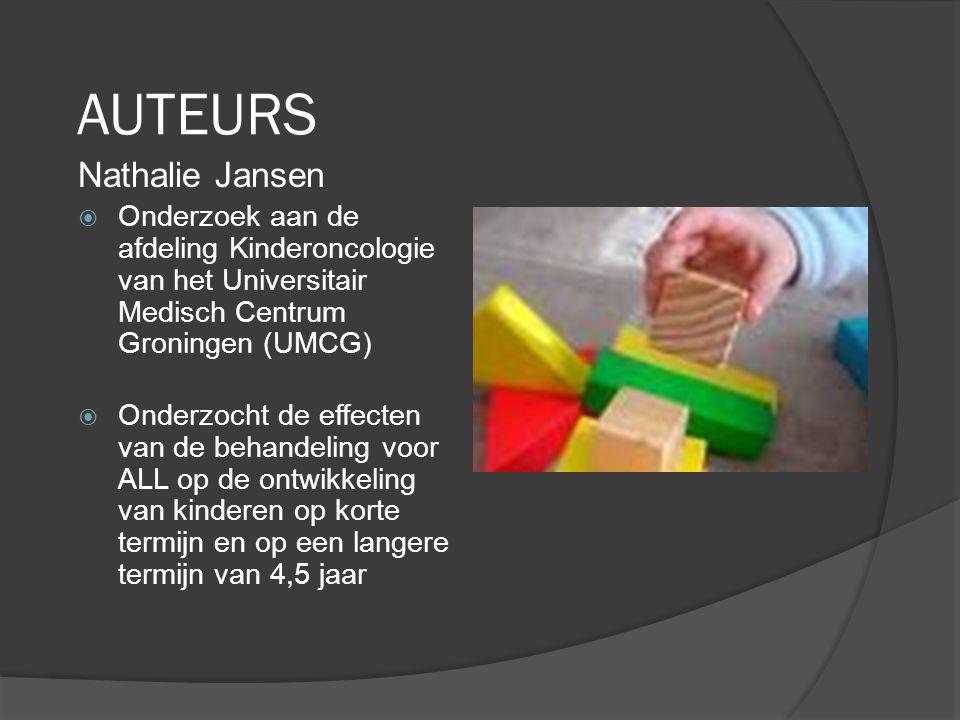 LEUKEMIEBEHANDELING EN METHODOLOGIE  ALL= Acute lymfarische leukemie  80% meest voorkomend bij kinderen  Kenmerken: Ongecontroleerde groei witte bloedcellen Ontwikkelt in beenmerg Leukemiecellen verspreiden over lichaam, organen  Electieve behandeling: voorkomen verspreiding naar hersenen