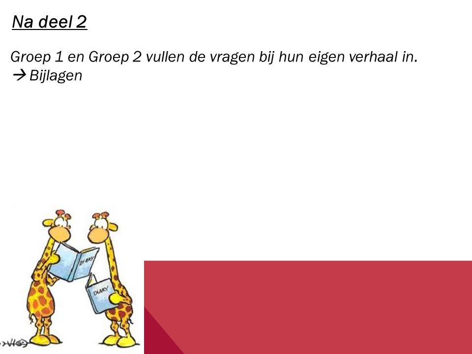 Deel 2 -2 voorlezers  1 uit rechts deel van de klas, 1 uit links deel van de klas  Testen of ze even luid lezen -Klas in 2 groepen  Rechts deel van