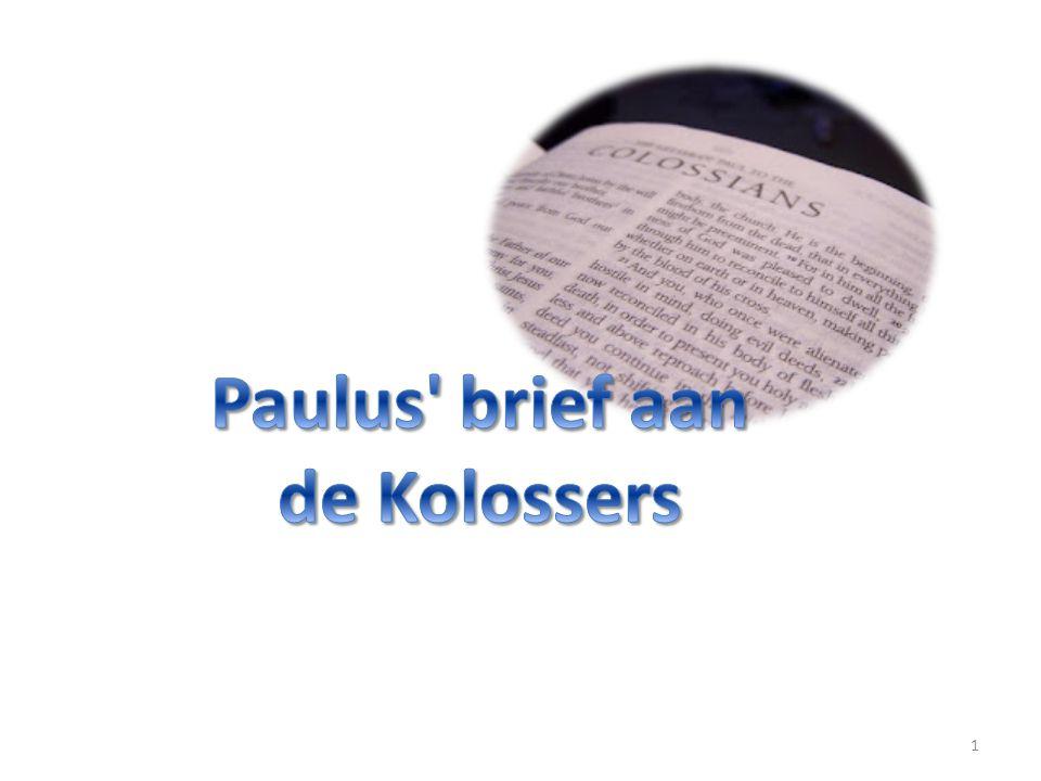 2 aan de heilige en gelovige broeders in Christus te Kolosse: genade en vrede zij u van God, onze Vader.