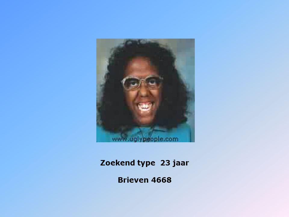Zoekend type 23 jaar Brieven 4668